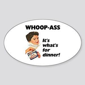 Whoop-Ass Oval Sticker