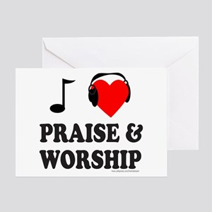 I HEART PRAISE AND WORSHIP Greeting Card