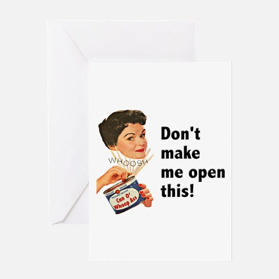 Can of Whoop-Ass Greeting Card
