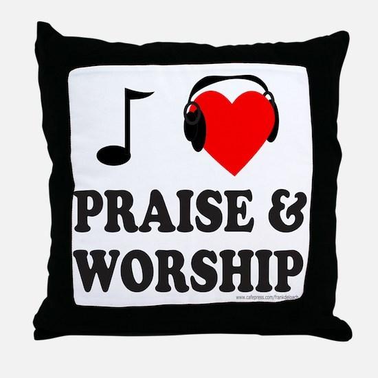 I HEART PRAISE & WORSHIP Throw Pillow