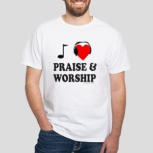 I HEART PRAISE & WORSHIP White T-Shirt