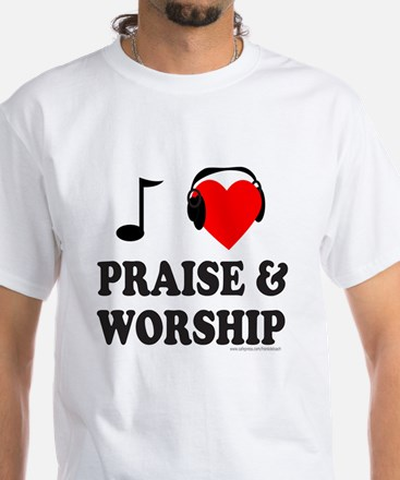 I HEART PRAISE & WORSHIP White T-Shirt
