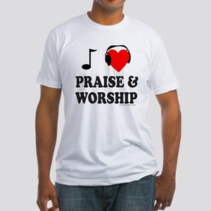 I HEART PRAISE & WORSHIP Fitted T-Shirt