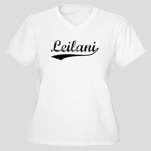 Vintage Leilani (Black) Women's Plus Size V-Neck T
