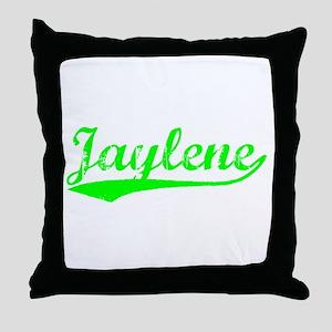 Vintage Jaylene (Green) Throw Pillow