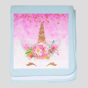 Fantasy Pink Unicorn baby blanket