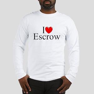 """I Love (Heart) Escrow"" Long Sleeve T-Shirt"