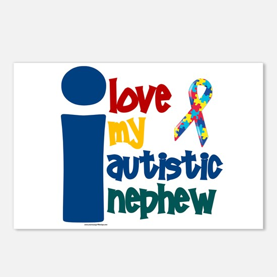 I Love My Autistic Nephew 1 Postcards (Package of