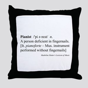 Humorous Pianist Definition Throw Pillow