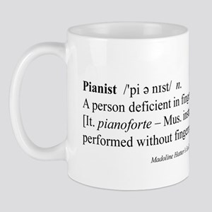 Humorous Pianist Definition Mug