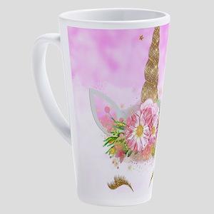 Fantasy Pink Unicorn 17 oz Latte Mug