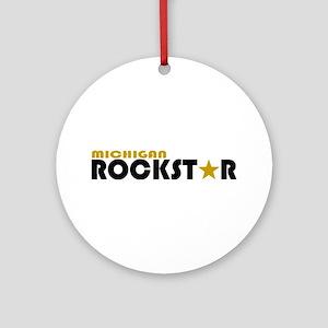 Michigan Rockstar Ornament (Round)