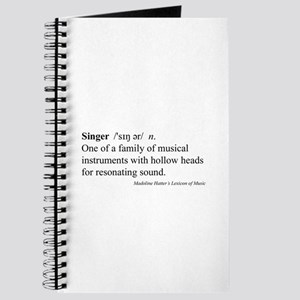 Humorous Singer Definition Journal