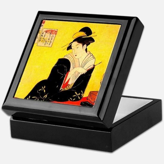 Immortal Poets Eishi Ukiyo-e Keepsake Box