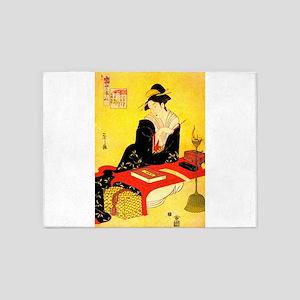 Immortal Poets Eishi Ukiyo-e 5'x7'Area Rug