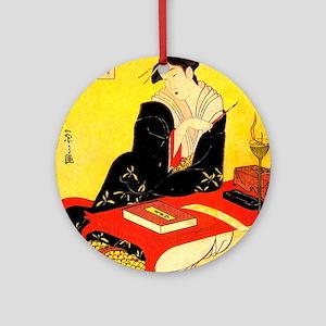 Immortal Poets Eishi Ukiyo-e Round Ornament