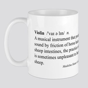 Humorous Violin Definition Mug
