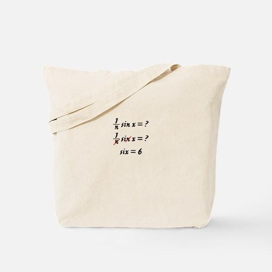 Six = 6 Tote Bag