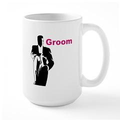 Silhouette Groom Large Mug