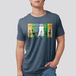 SOH: Baby Animals Mens Tri-blend T-Shirt