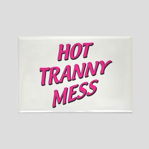 hot mess Rectangle Magnet