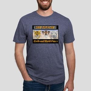 SOH: Lioness, Cheetah, Snow Mens Tri-blend T-Shirt