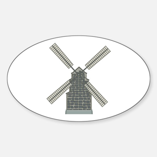 Classic Windmill Oval Decal