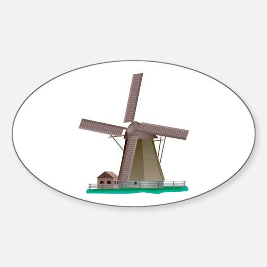Windmill Power Oval Decal