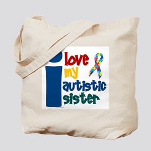 I Love My Autistic Sister 1 Tote Bag