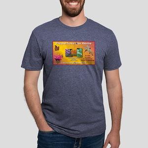 SOH: Butterfly, Hummer, Bee Mens Tri-blend T-Shirt