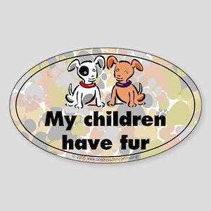 Furkids (dogs) Oval Sticker