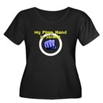 My Pimp Hand is Strong Women's Plus Size Scoop Nec