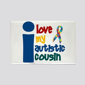 I Love My Autistic Cousin 1 Rectangle Magnet