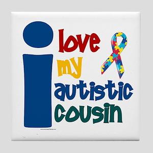 I Love My Autistic Cousin 1 Tile Coaster