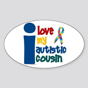 I Love My Autistic Cousin 1 Oval Sticker