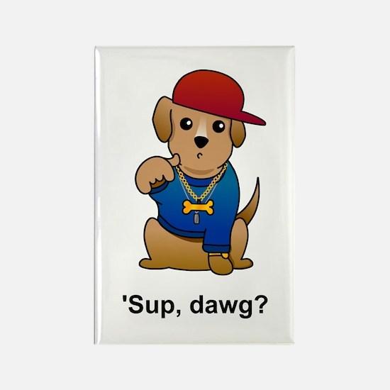 Gangsta Dog Rectangle Magnet