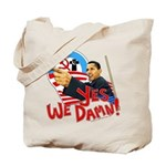 """anti-Obama """"Yes We Damn"""" Tote Bag"""