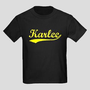 Vintage Karlee (Gold) Kids Dark T-Shirt