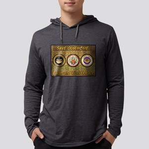 SOH: 3 Frogs 4 Peace Mens Hooded Shirt