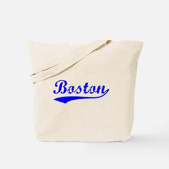 Vintage Boston (Blue) Tote Bag