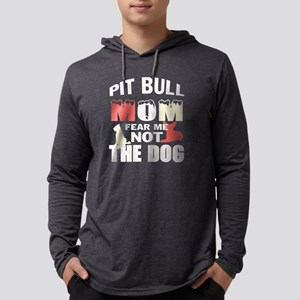 Pit Bull Mom T Shirt Long Sleeve T-Shirt