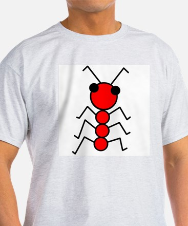 Red Ant Ash Grey T-Shirt