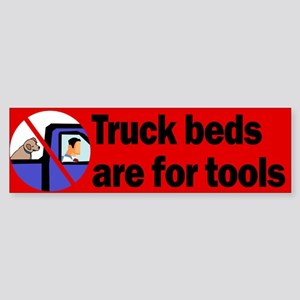 Truck Beds For Tools Bumper Sticker