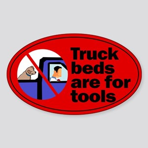 Truck Beds For Tools Oval Sticker
