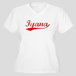 Vintage Iyana (Red) Women's Plus Size V-Neck T-Shi