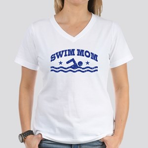 Swim Mom Women's V-Neck T-Shirt