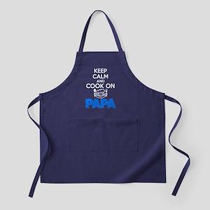 Cook On Papa T Shirt Apron (dark)
