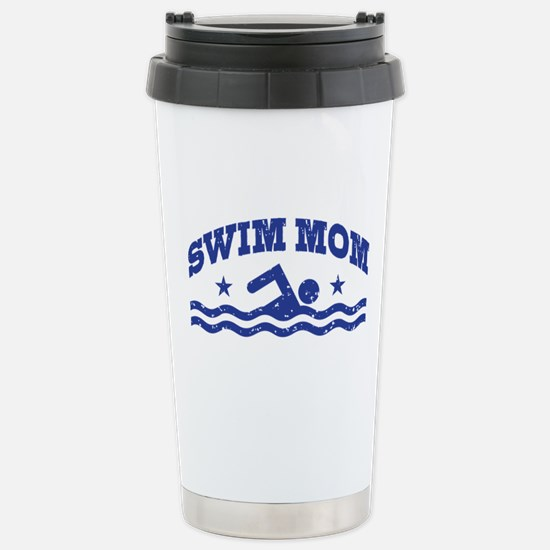 Swim Mom Stainless Steel Travel Mug