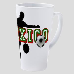 Mexican Soccer Player 17 oz Latte Mug