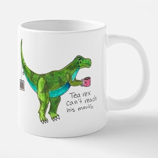 Tea Rex Can't Reach His Mouth Mugs